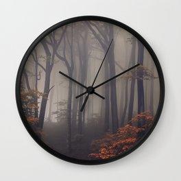 Red leaves of autumn Wall Clock