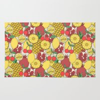 fruit Area & Throw Rugs featuring Fruit by Valendji