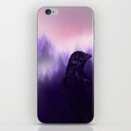 Mythical crow iPhone Skin