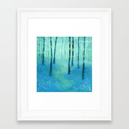 Bluebells, Challock Framed Art Print