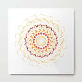 Mandala. Seasons Metal Print