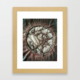 Woven Threads . Dream Catcher Framed Art Print