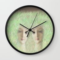 madonna Wall Clocks featuring Madonna by Elena López Macías