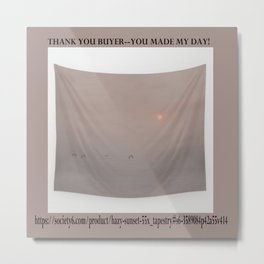 Thank You For The Purchase Metal Print