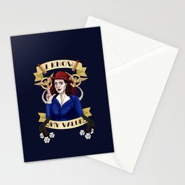 I know my value. Stationery Cards