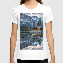 Emerald Lake mountain lake mountain landscape rocks winter forest Canada Canadian Rocky Mountains British Columbia Yoho National Park T-shirt