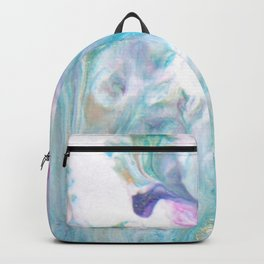 Pastel Blue Flows - Abstract Acrylic Art by Fluid Nature Backpack