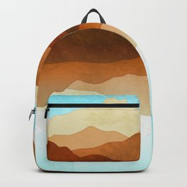 Western Sky Reflections In Watercolor Backpack