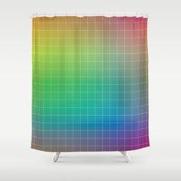 Rainbow Graph Shower Curtain