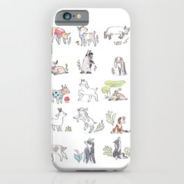 Goat Kids Collection iPhone Case