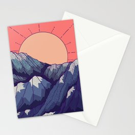 An early morning view Stationery Cards