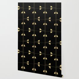 Art Deco / Black Cat Eye Pattern Wallpaper