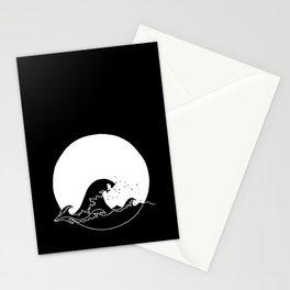Black Wave Stationery Cards