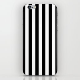 Black and White Even Small Stripes iPhone Skin