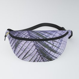 Palm Leaves On A Violet Background #decor #society6 #buyart Fanny Pack