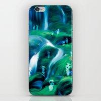 kodama iPhone & iPod Skins featuring Kodama by Carles Marsal