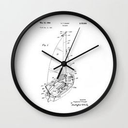 patent art Court Sailboat 1964 Wall Clock