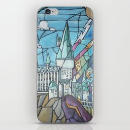 Hogwarts stained glass style iPhone Skin