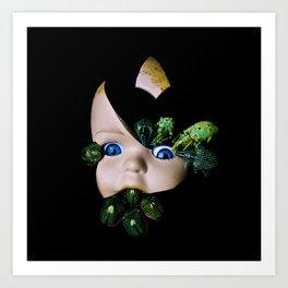 Little Broken Dolly Face - Halloween III Art Print