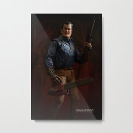 """I'm going to shove this right up some deadites ass! Hyah!"" Metal Print"