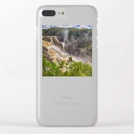 Thunderous beauty of Barron Falls Clear iPhone Case