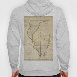 Map of Illinois 1818 Hoody