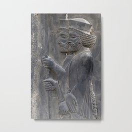 Warriors of Persian empire in Persepolis - The age of Cyrus the Great Metal Print