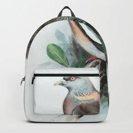 Pigeon Watercolor Bird Art Backpack