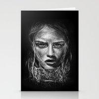 cara delevingne Stationery Cards featuring Cara Delevingne by Creadoorm