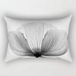 XRAY FLOWER [transparent black white poppy petals] Rectangular Pillow