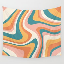 Abstract Wavy Stripes LXIII Wall Tapestry