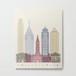Philadelphia skyline poster Metal Print