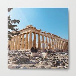 The Parthenon, Acropolis of Athens, Greece photography, ancient Greek Metal Print