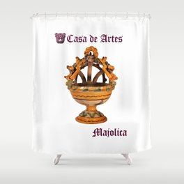 Majolica Incense Burner - Casa de Artes Shower Curtain