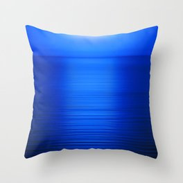 Sunset on the Water-Deep Blue Throw Pillow