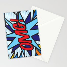 OMG Comic Book Funny Cute Cool Typography Stationery Cards