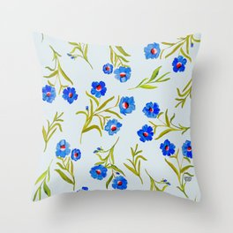 FRENCH BLUE Throw Pillow