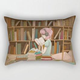 I Love Books Rectangular Pillow