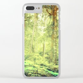 Morning Trees Clear iPhone Case