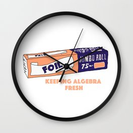 FOIL - Keeping Algebra Fresh Wall Clock