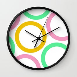 Colour Hoops 03 Wall Clock