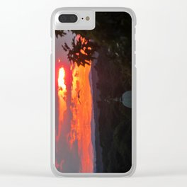 Seagull in a July Sunset Clear iPhone Case