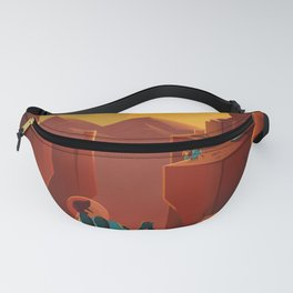 Vintage Adventure Travel Olympus Mons Awaits Fanny Pack