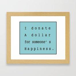 Charity Bags Framed Art Print