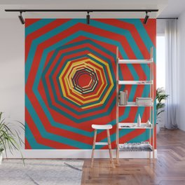 Time Warp In Red Wall Mural