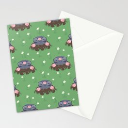 Cute little moles Stationery Cards
