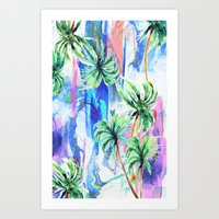 palm trees Art Prints featuring Palm trees by Nikkistrange
