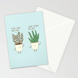 garden etiquette Stationery Cards