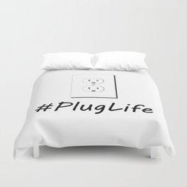 #PlugLife Outlet Duvet Cover