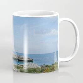 Natural bridge in Alcaufar, Menorca. Coffee Mug